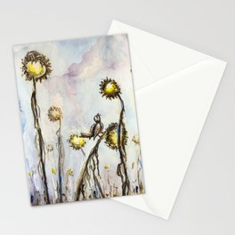 Bird Sings the Sunflower Blues Stationery Cards