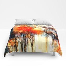 Morning Fog Reflection Comforters