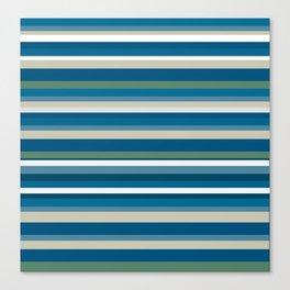 Summer Breeze Stripes Canvas Print
