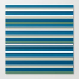Summer Breeze Stripes Canvas Print