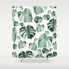 Tropical Monstera Pattern #2 #tropical #decor #art #society6 Shower Curtain
