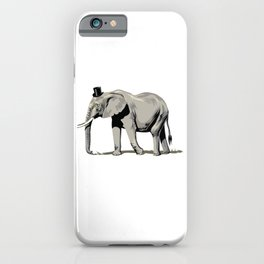 Elephant Wearing Tiny Top Hat iPhone Case