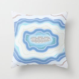 Bright Agate #3 Throw Pillow