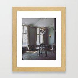 Sunlight Hits Classical Belgian Decor in Ghent Framed Art Print