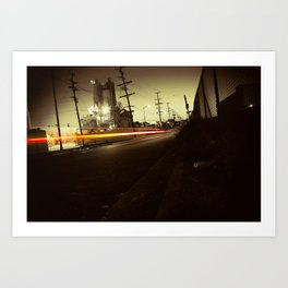 Night ride Art Print