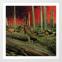 Firebreak Art Print