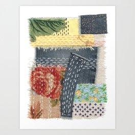 Boro Kantha Textile Art 001 Art Print