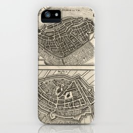 Map of Dordrecht and Brielle, Netherlands (1646) iPhone Case