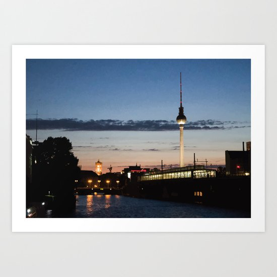 Berlin at night Art Print