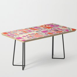 paris map pink Coffee Table