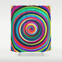 circus Shower Curtains featuring CIRCUS by THE USUAL DESIGNERS