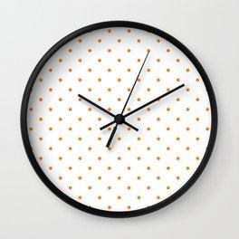 Small Orange Polka Dots Wall Clock
