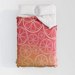 Citrus slices (red/orange) Comforters