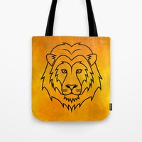 courage Tote Bags featuring Courage by Alex Ink