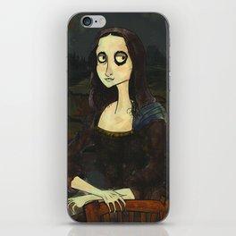 Mona Lisa (Tim Burton Stylized) iPhone Skin