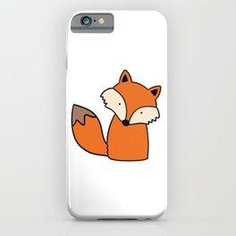 Simple hand drawn fox iPhone Case