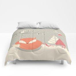 Christmas baby fox 06 Comforters
