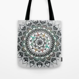 """Om"" Psychedelica Mandala Tote Bag"