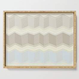 Abstract Zigzag Serving Tray