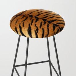 Faux Siberian Tiger Skin Design Bar Stool