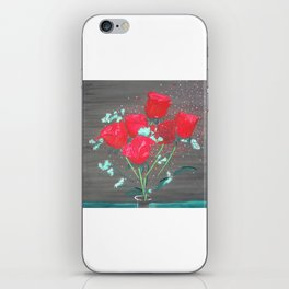 Abstract water color rozes iPhone Skin