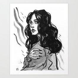 bummer babe Art Print