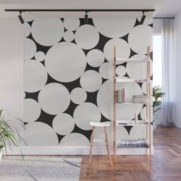 Circular Collage - Black & White II Wall Mural