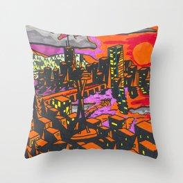 Space Needle Seattle Throw Pillow