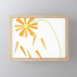 Falling flowers Framed Mini Art Print
