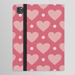 Pink Heart Dots iPad Folio Case