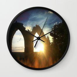 Fire at the tower Wall Clock