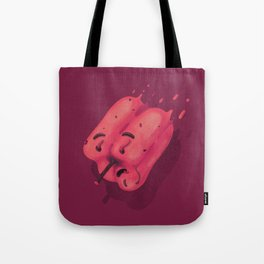 Bell pepper wormy face Tote Bag