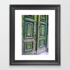 Green Door 3 Framed Art Print