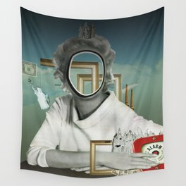 The truth is dead 23417 · Die Frau am Fenster 2 Wall Tapestry