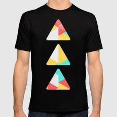 Triangle Pattern I Mens Fitted Tee MEDIUM Black