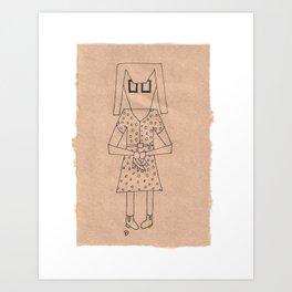 D || SquareEyes Art Print