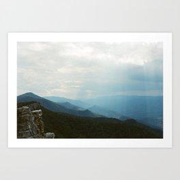 North Fork Mountain; West Virginia Art Print