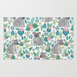 Floral Koala Rug