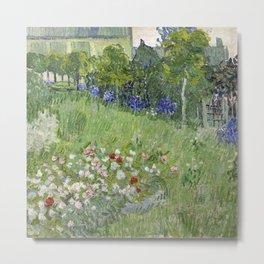 1890-Vincent van Gogh-Daubigny's garden-50,7x50,7 Metal Print