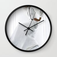 wedding Wall Clocks featuring Wedding by Anthracite