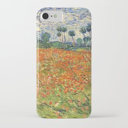 Poppy Field by Vincent van Gogh, 1890 painting iPhone Case