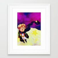 little prince Framed Art Prints featuring Little Prince by Mei Linwau