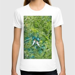 Goldfish on colorful background T-shirt