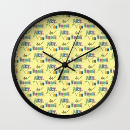 Art Supplies Wall Clock