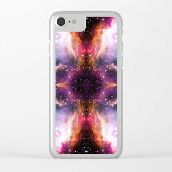Purple Nebula Clouds / #pattern #graphic #design #space #society6 Clear iPhone Case