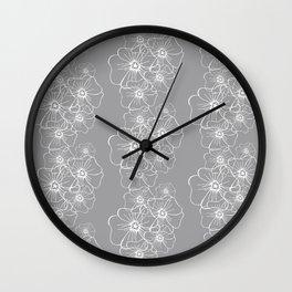 Linnen Lines Wall Clock