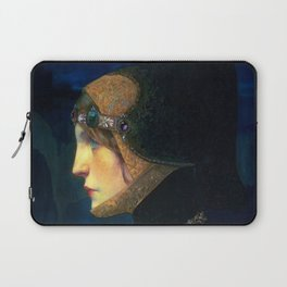 Head of a Lady in Medieval Costume by Lucien Victor Guirand de Scevola (c.1900) Laptop Sleeve