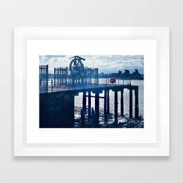 Enderby's Wharf Cable Gear Framed Art Print