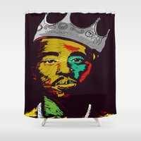 tupac Shower Curtains featuring Tupac's Back by Dazed N Amused
