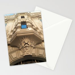 Looking up at stunning Art Nouveau architecture in Riga Stationery Cards